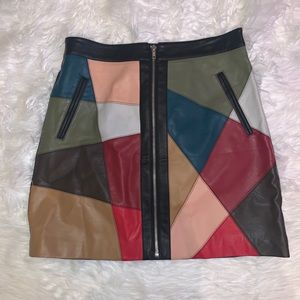 BCBG Generation Leather Mini Skirt